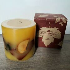 Longaberger Unburned 2001 Falling Leaves 4 x 4 Candle in Orchard Park Scent, Nib