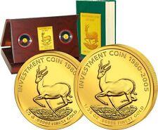 Investment Coin Set 2005 Springbock - Erste Ausgabe! 10$ + 25$ Gold PP RAR!
