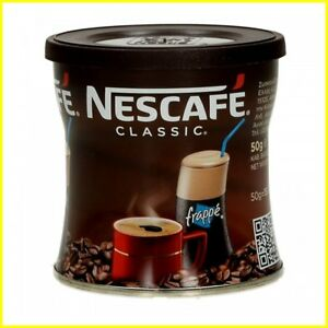 Nescafe Classic Instant Coffee Hot or Cold Greek Frappe - 1 Pack of 50g