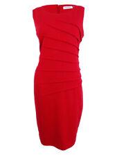 Calvin Klein Women's Sleeveless Dress 12, Red