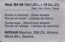 Bulloni antifurto ruote NISSAN Maxima 300 ZX-Almera-Micra 95>-Serena