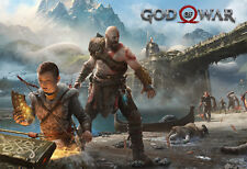 God of War  Poster - PS4 Exclusive - Key Art - 2018 Game High Quality Prints