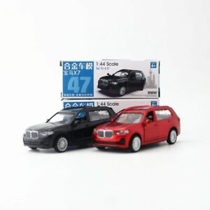 BMW X7 1:44 Scale Diecast Alloy Metal Model Collection Car Blak Red Toy Vehicle