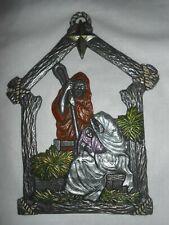 """Carson 96069"" Pewter Christmas Wall Hanging ~ Jesus Joseph Mary ~ Freeport, Pa."