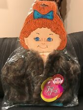 "New cabbage patch kids flower kids pumpkin kids fits 17"" dolls fun furs brown A5"