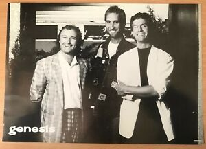 Genesis, Phil, Mike and Tony A4 Poster