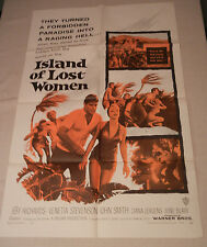 "1959 ""ISLAND OF LOST WOMEN"" Original One Sheet Movie Poster"