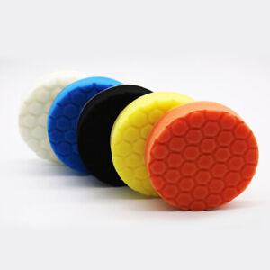 5Pcs 4inch Buffing Sponge Polishing Pad Kit Waxing For Car Polisher