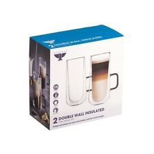 New Ravenhead Double Walled Latte Coffee Glasses Cups 34CL Pk2 0041.800