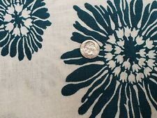 BEST Vintage Feedsack Quilt Fabric 40s Tropical TEAL Floral Flour Full Sack