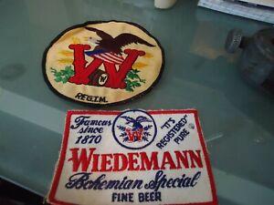 WIEDEMANN ANTIQUE BEER BAR  CLOTH PATCHES