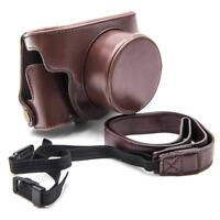 Case polyurethan coffee + strap for Canon PowerShot G1X Mark 2, G1X Mark II