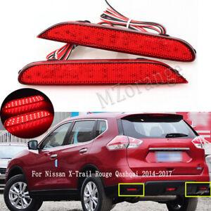 For Nissan X-Trail Rouge Qashqai 2014 2015-2017 LED Rear Bumper Brake Fog Light