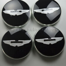 Genuine Aston Martin V8 Rapide Virage Black Wheel Center Cap 4 PCS Brand New