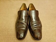Gucci Men Brown Leather Loafers Slip On Moc Toe Dress Formal Shoes Size 10 D