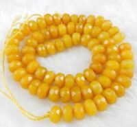 "new Natural 5x8mm Faceted Topaz Abacus Gems Loose Beads 15""JL28"