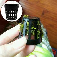 10pcs Aquarium Plastic Pot Baskets Water Plant Grass Newly Cultivate Planti I6V1