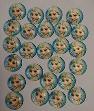 Frozen Elsa 25mm Acrylic Dome Cabochons 25 Pieces