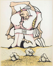 Camacho Jorge R. (La Habana,1934-Parigi 2011) -El Circulo de Piedra- Litografia