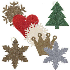 175 Glitter Stars, Snowflakes, Crown, Tree & Heart Christmas Gift Tags XT0032