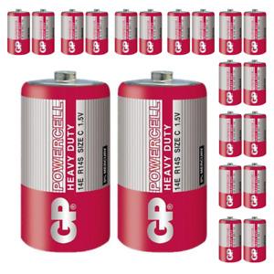 20 x GP Baby C MN1400 R14 LR14 1,5V Zink-Kohle Batterie