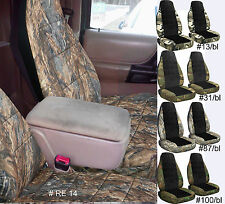 98-03 FORD RANGER 60-40 HIGHBACK SEAT camo/black center CAR SEAT COVERS CHOOSE