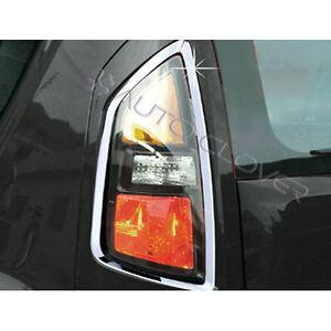 Chrome Tail Light Lamp Cover 2p Set for 2008 2013 Kia Soul