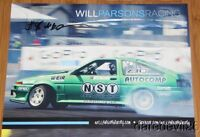 2014 Will Parsons signed Toyota Corolla AE86 Formula Drift postcard