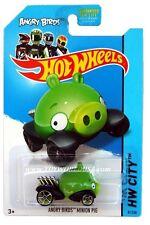 2014 Hot Wheels #81 HW City Tooned I Angry Birds Minion Pig