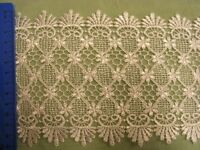 Embroidered White Nett  Lace Trim 120mm x 1.5mts (125006)