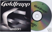 GOLDFRAPP Number 1 2005 UK 1-trk promo CD card sleeve