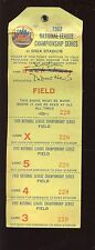1969 NLCS at New York Mets Working Press Pass