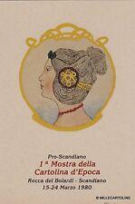 # SCANDIANO: 1a MOSTRA DELLA CARTOLINA d'EPOCA- Rocca dei Boiardi 1980