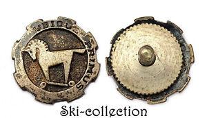 Insigne-Miniature à vis- 1°Régiment de Chasseurs d'Afrique. UBIQUE PRIMUS