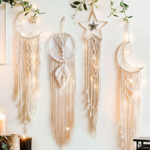 Bohemian Macrame Wall Hanging Tapestry Dream Catcher Woven Handmade Home Decor