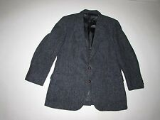 Harris Tweed Men's Herringbone Blazer Size 40 Regular Gray Blue Wool Jacket 40R