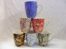 Vintage William Morris Abbeydale Collection China Coffee Tea Mugs Cups Set of 6