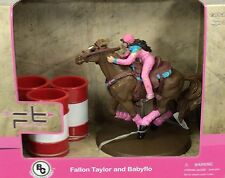 Big Country Farm Toys Fallon Taylor & Babyflo Rodeo Figures with 3 Barrels # 441