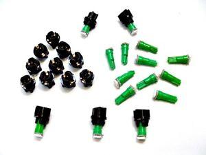 "15 Green Ford LEDs Lights Bulbs 3/8"" Sockets Instrument Panel Cluster Dashboard"