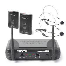 Vonyx 179.178 VHF Wireless Microphone System Headsets SSC1635
