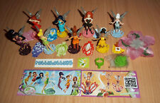 KINDER SURPRISE - DISNEY FAIRIES COMPLETE SET OF 10 WITH ALL PAPERS - FERRERO
