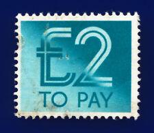 1982 SG D100 £2 Turquoise-Blue Spec Z88 VAR: Dgnal Trimming Line on S edge  choa