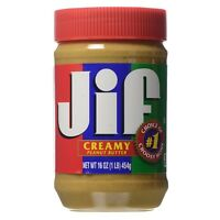 Jif Creamy Peanut Butter 16 oz (Pack of 5)