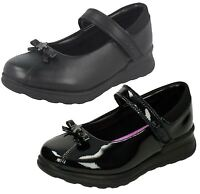 Girls Clarks Gloforms Mariel Wish INF Black Leather Or Patent School Shoes