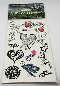 Wet N Wild Fantasy Makers Visage & Corps Tatouages Sauvage & Wicked 12406 Neuf