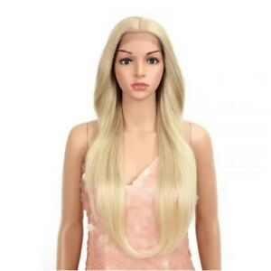"""Style Icon Easy-360 Lace Frontal Wigs 28"""" Long Straight Synthetic Ombre Blonde"""