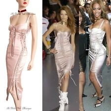 DOLCE & GABBANA vintage 2003 pink corset Beyonce hot DRESS size UK 8 USA 4 40 DG