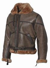 RAF Fliegerjacke Pilotenjacke Retro Lammfell-Lederjacke Real Leather Jacket Gr.L
