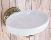Vintage Antique Brass Wall Mounted Bathroom Soap Dish Holders Gba260