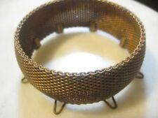 """1940s Vintage Brass Mesh Cuff Bracelet Blank/Base, 8 Loops, Size 8 7/8 x 1"""" Wide"""
